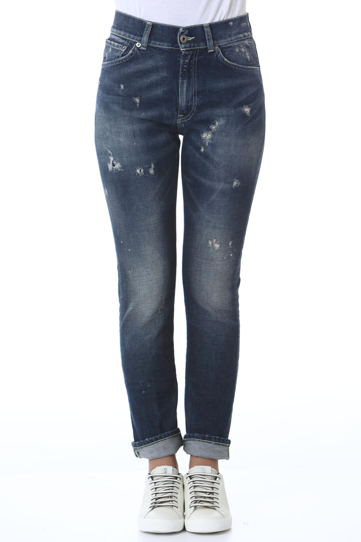 Pantalone donna Viola DON DUP | Jeans | DP585DS0307BR1800
