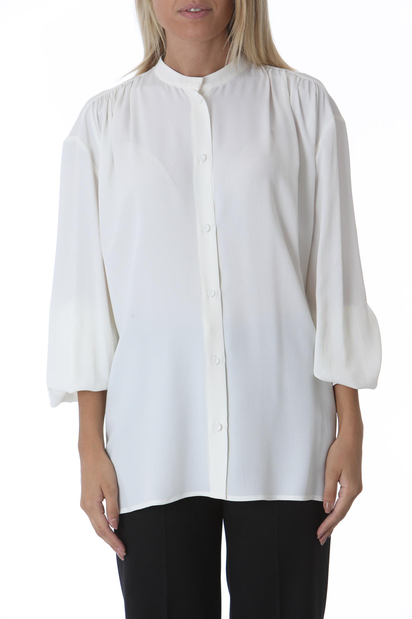 Camicia donna con arricci sulle spalle GRIFONI   Camicie   GL220071/7045