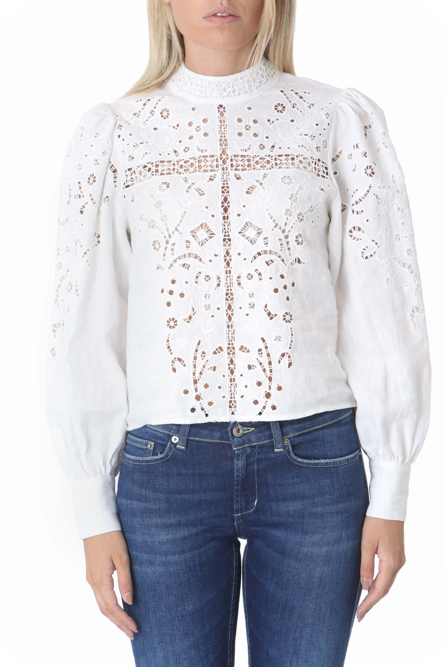 Camicia donna con inserti in pizzo LES COYOTES DE PARIS   Camicie   SHIVA-216-20-071104