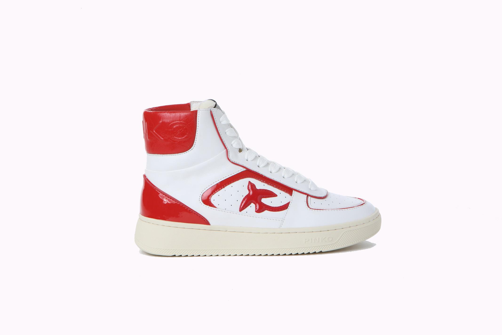 Sneakers donna Harlow basket high vitello PINKO | Scarpe | 1H20YR-Y78L9ZR2