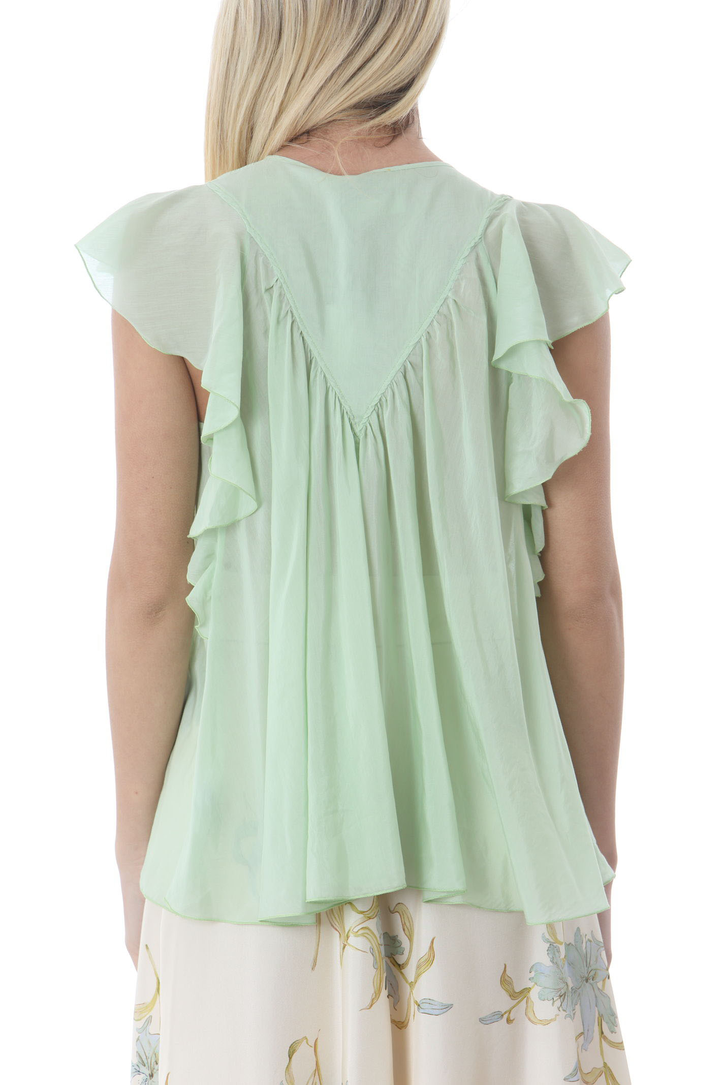 COTTON SILK VOILE LEELESS TOP FORTE FORTE   Bluse   8078MYTOP6052