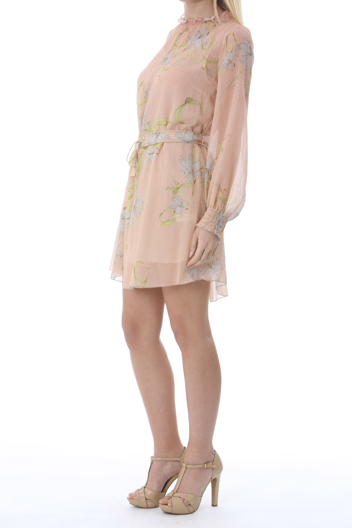 GIULIETTA PRINT COTTONSILK CREPPONE VOILE SHORT DRESS FORTE FORTE | Abiti | 8091MYDRESS2005