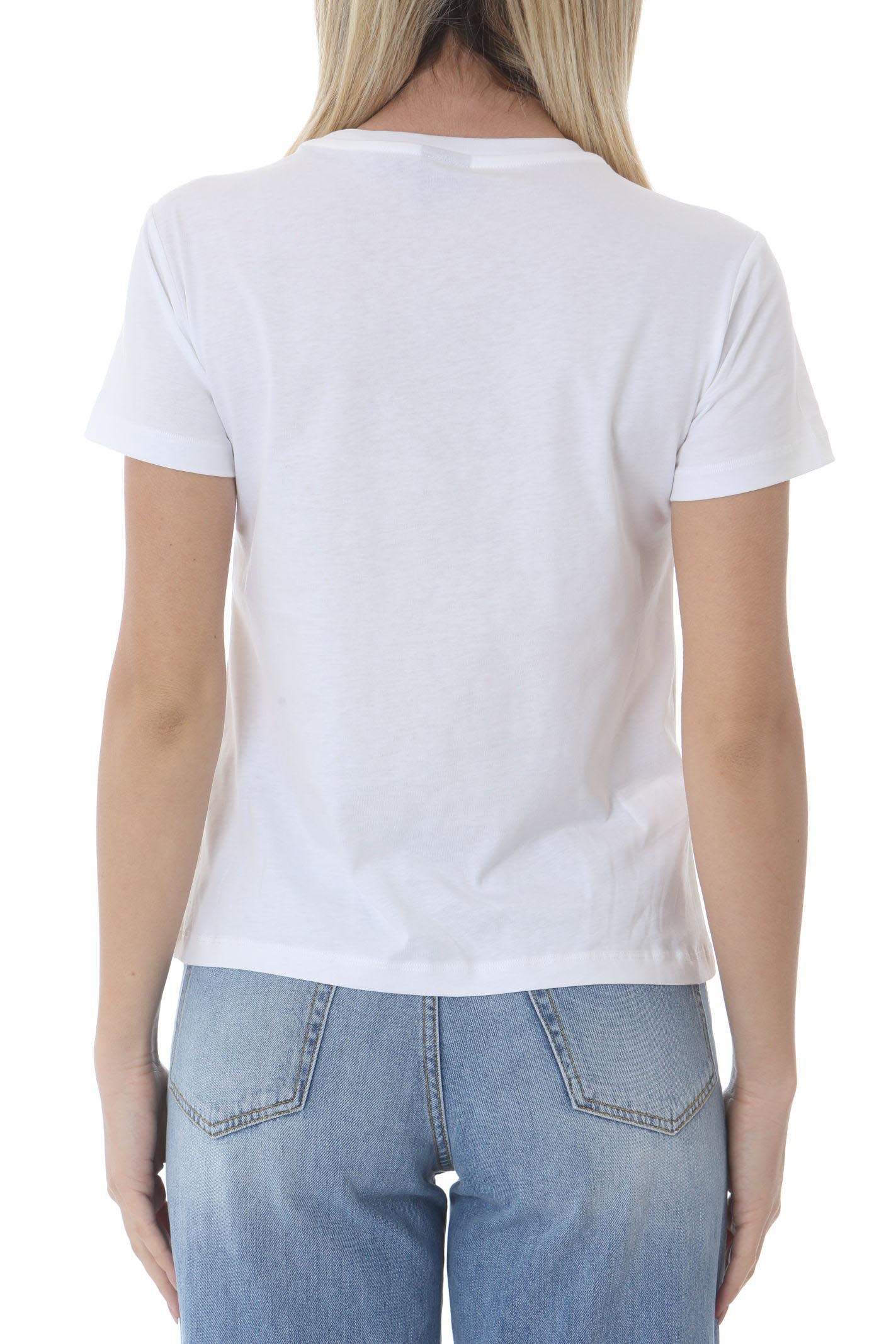 T-shirt donna con ricamo lobe birds PINKO | T- Shirt | 1G1610-Y4LXLZC
