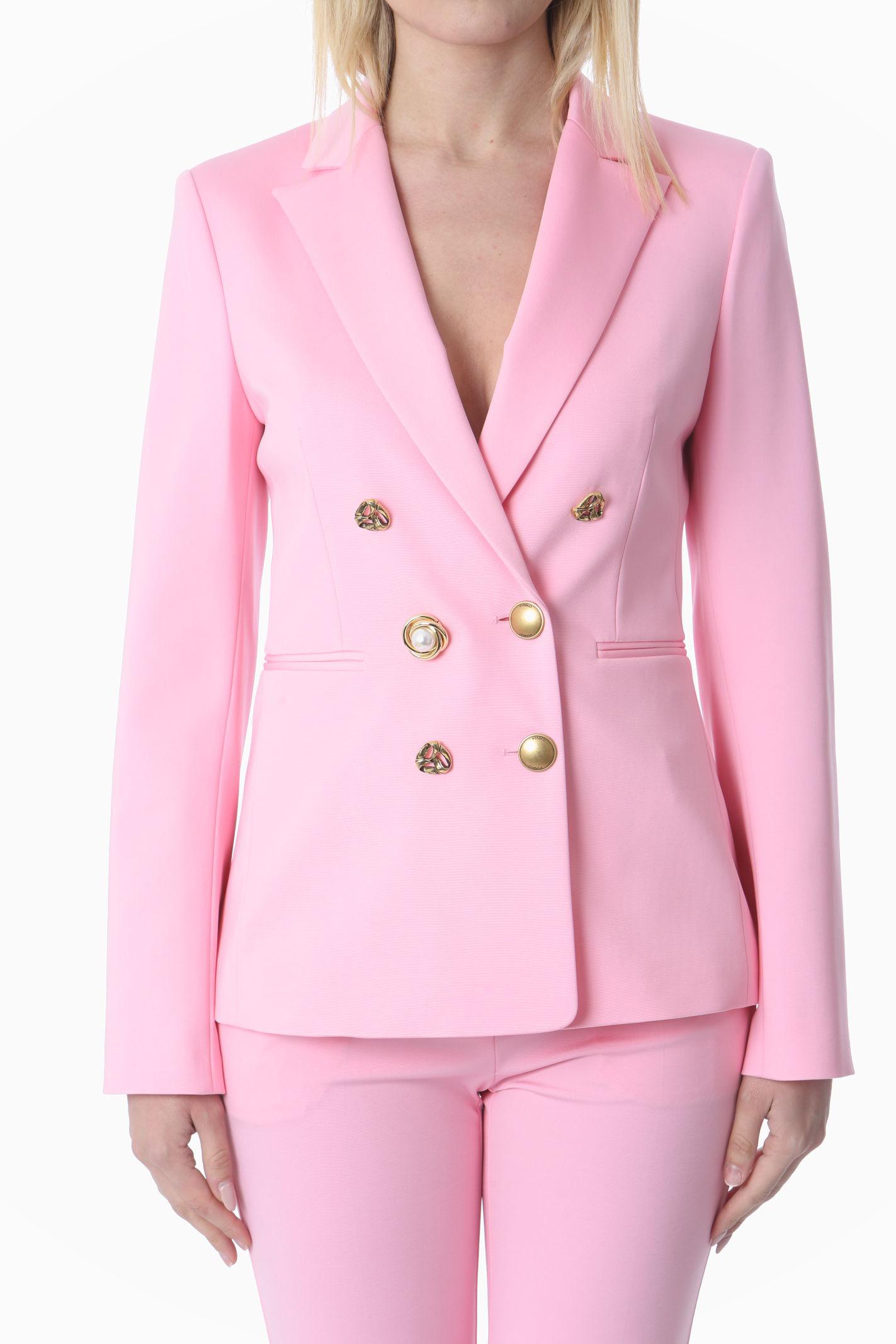 Blazer donna doppiopetto con bottoni gioiello PINKO   Giacche   1G15TQ-5872P95