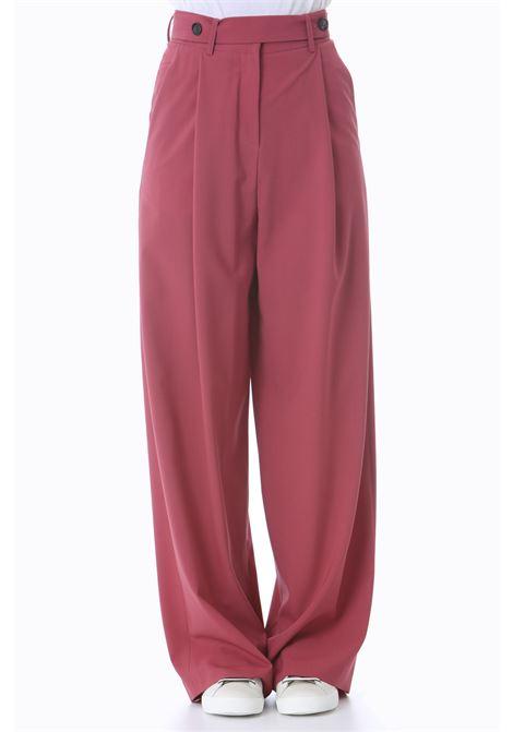 Pantalone ampio donna in tela di lana ALYSI | Pantaloni | 151113-A1035BERRY