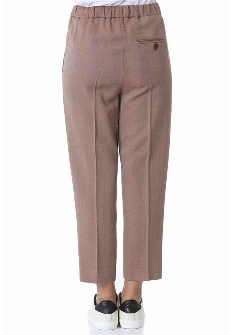 Pantalone donna a sigaretta resca shetland ALYSI | Pantaloni | 151119-A1057COTTO