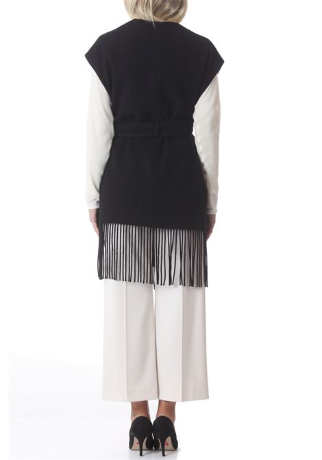 Gilet donna feleted wool con frangia ALYSI | Gilet | 151807-A1040NE