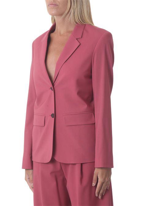 Blazer donna monopetto in tela di lana ALYSI | Blazer | 151808-A1035BERRY