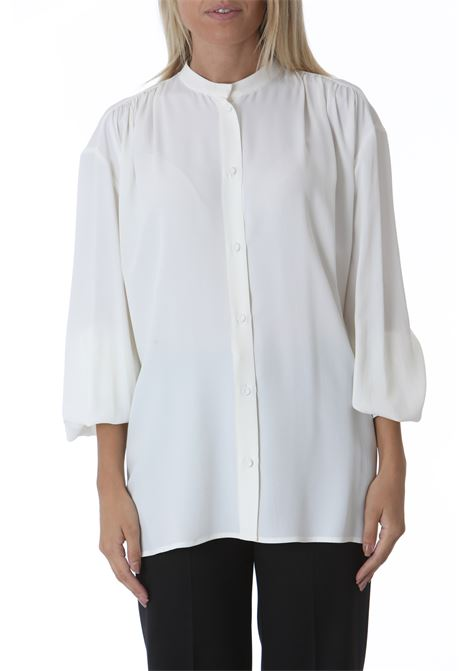 Camicia donna con arricci sulle spalle GRIFONI | Camicie | GL220071/7045