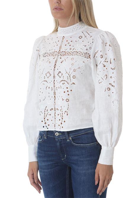 Camicia donna con inserti in pizzo LES COYOTES DE PARIS | Camicie | SHIVA-216-20-071104