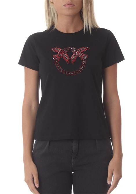 T-shirt donna in jersey Quentin 2 PINKO | T- Shirt | 1G16JB-Y4LXZR4