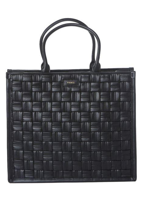 Borsa donna shopping weave PINKO | Borse | 1P22FQ-Y7KJZ99