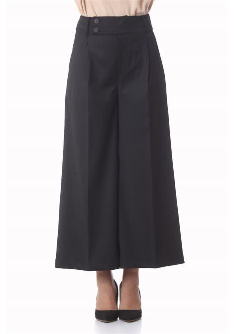 Pantalone donna coulotte in flanella Elora SEMI COUTURE | Pantaloni | Y1WI04Y69-0