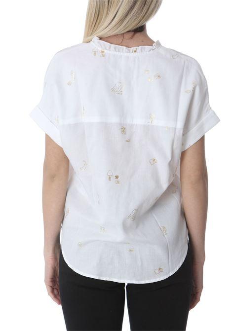 Camicia donna maniche coere scollo a V DES PETIT HAUTS   Camicie   RAO-1E210467IM697