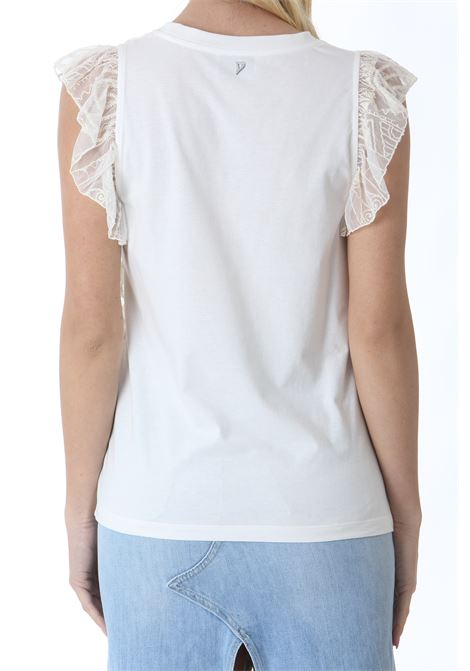 TOP CON SPALLINE DI PIZZO DON DUP | Top | S876JF0291DXXX007
