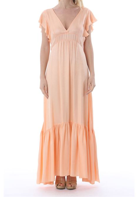 FLUID JACQUARD SATIN VOLANTS DRESS FORTE FORTE | Abiti | 8061MYDRESS2005