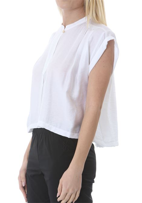 CHIC TWILL SLEEVELESS TOP FORTE FORTE | Bluse | 8069-MYTOP0002