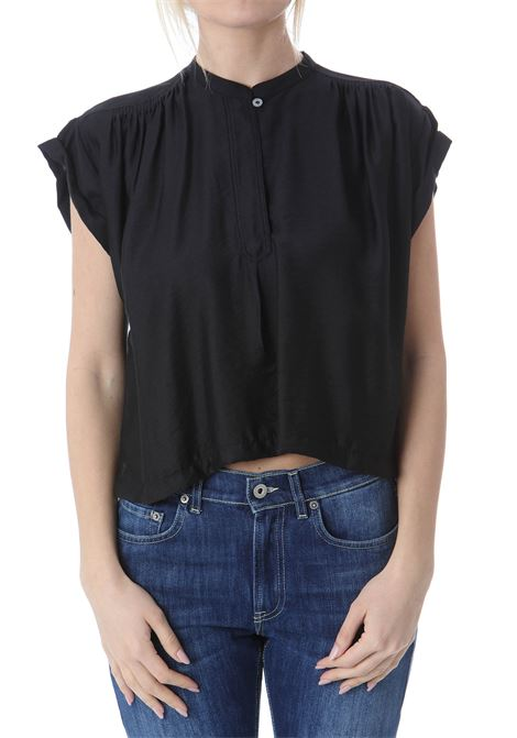 TOP SMANICATO IN TWILL FORTE FORTE | Bluse | 8069-MYTOP8000