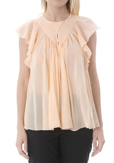 COTTON SILK VOILE LEELESS TOP FORTE FORTE | Bluse | 8078MYTOP2005