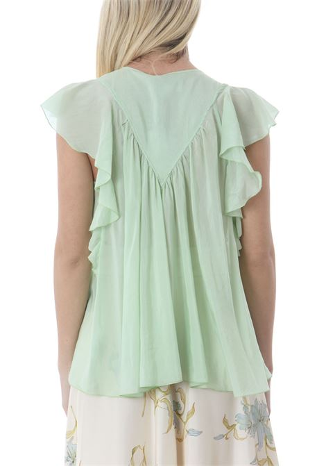 COTTON SILK VOILE LEELESS TOP FORTE FORTE | Bluse | 8078MYTOP6052