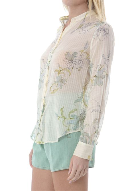 GELSOMINA PRINT CHECK VOILE GRANDFATHER SHIRT FORTE FORTE | Camicie | 8095MYSHIRT0182