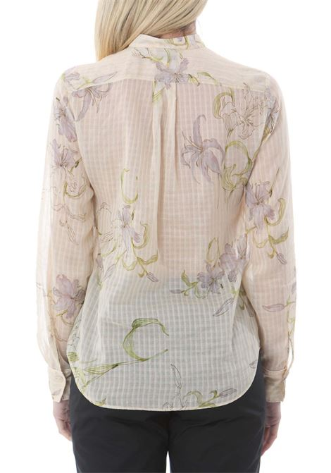 GELSOMINA PRINT CHECK VOILE GRANDFATHER SHIRT FORTE FORTE | Camicie | 8095MYSHIRT2005