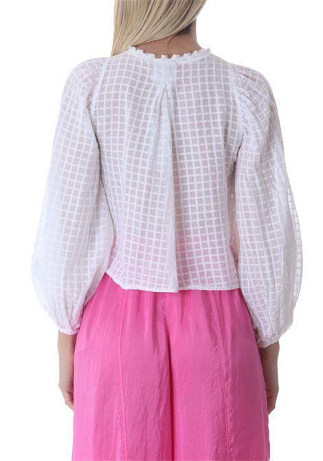Camicia donna in ceck FORTE FORTE | Camicie | 8244MYSHIRTBIANCO
