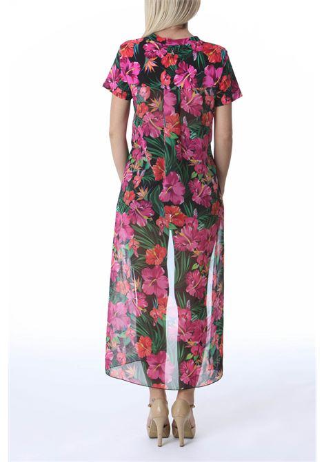 T-shirt donna con inserto in chiffon stampato PATRIZIA PEPE | T-shirt | 2M4086/A9B5XU72