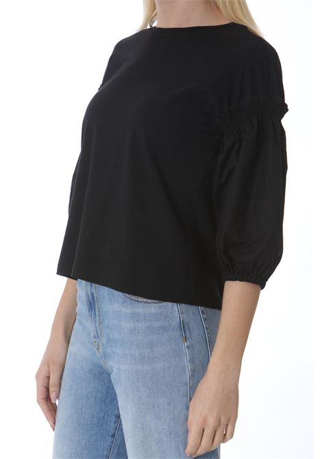 Maglia donna maniche ampie con rouches PINKO | Maglie | 1G15TH-Y6EVZ99