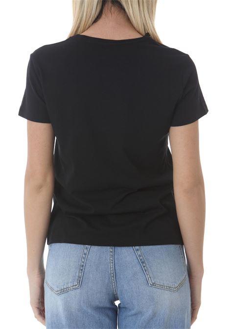 T-Shirt donna con ricamo love birds PINKO   T- Shirt   1G1619-Y651Z99
