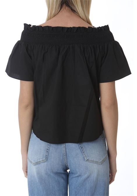Blusa donna con scollo off-shoulders PINKO | Bluse | 1G161G-Y6VWZ99