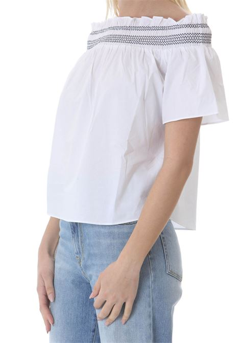Blusa donna con scollo off-shoulders PINKO | Bluse | 1G161G-Y6VWZZ1