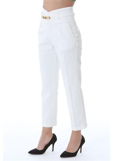 Pantalone donna chinos con vita alta e cintura PINKO | Jeans | 1J10LT-Y64AZ08