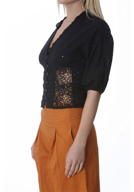 Blusa donna corta in sangallo PINKO | Bluse | 1G15YC-Y6WVZ99