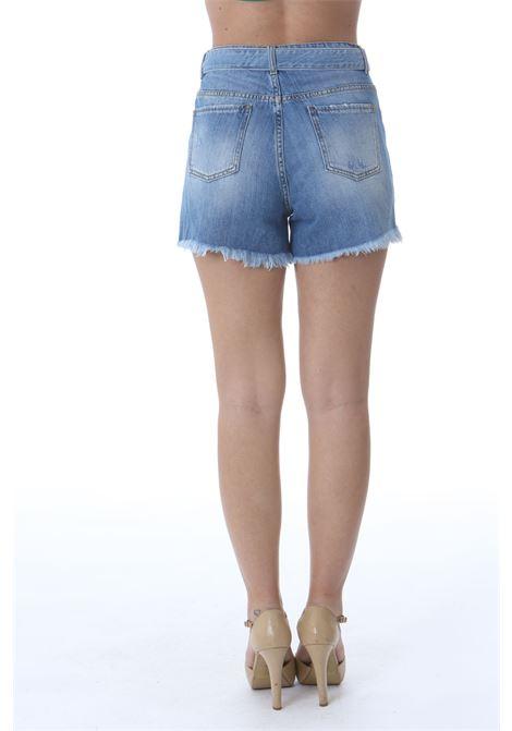 Short donna in denim con fibbia logo PINKO | Shorts | 1J10N0-Y649G14