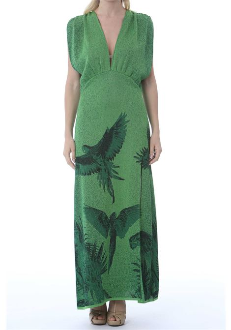 V-NECK DRESS PAPPAGALLI VIKI-AND | Abiti | 202/0-PAPPAGALLIGREEN
