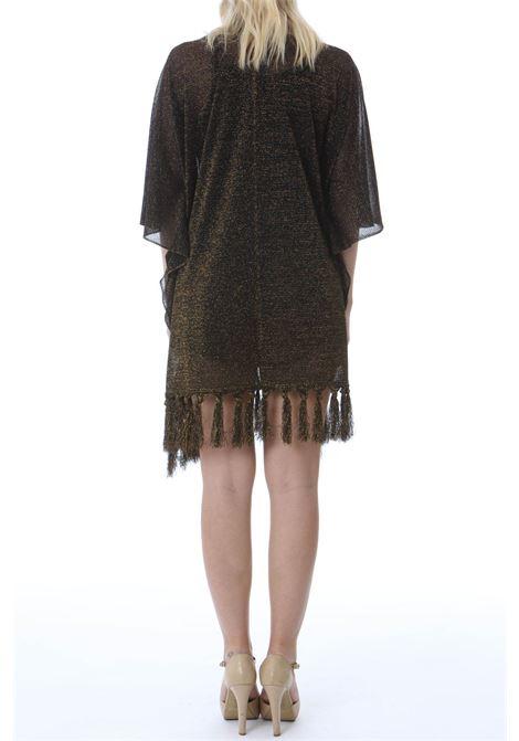 Poncho donna in lurex VIKI-AND | Poncho | 309/0-COMETEBLACK/GOLD