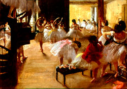 Turn Ballet School by Edgar Degas into LCD TV Art.