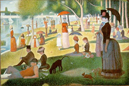 Seurat as art for your plasma tv.