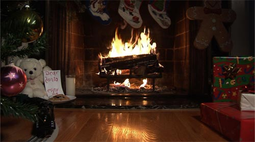 Ambient Fire Video Fireplace DVD Premium Fake Fireplace DVD