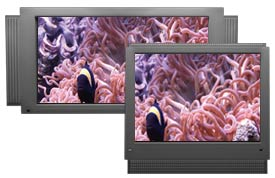 Ambient Water's video aquariums display nicely on all types of TVs.