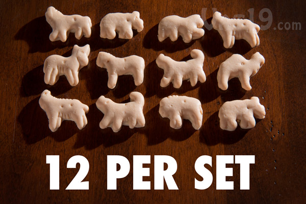 Each set of Animal Cracker Soaps includes twelve soap crackers.