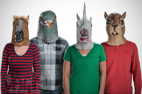 Choose from a variety of creepy Animal Head Masks.