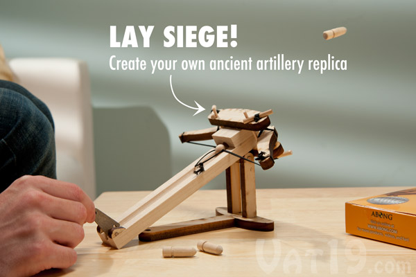 Build your own ancient roman ballista using this DIY ballista kit.