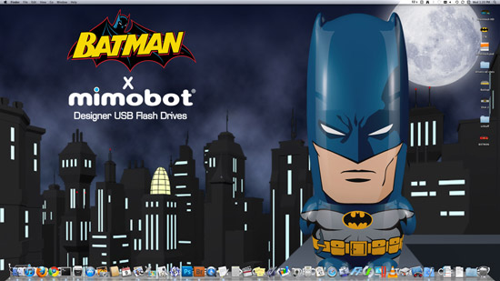 All DC Comic Mimobot Flash Drives come with tons of Batman desktop wallpapers.