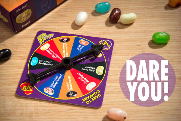Bean Boozled by Jelly Belly includes a spinner wheel game.