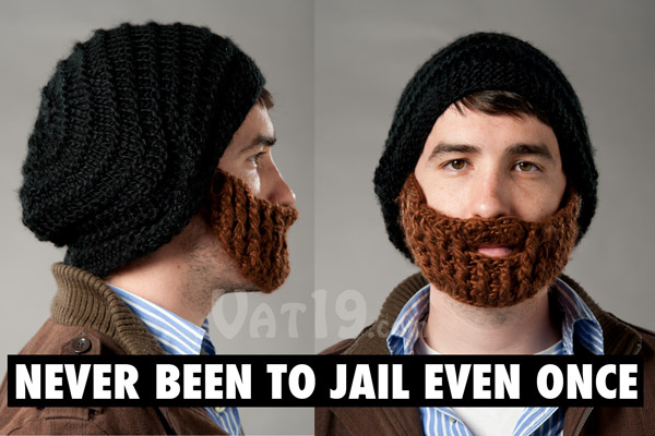 The Beardo Beard Hat from multiple views.