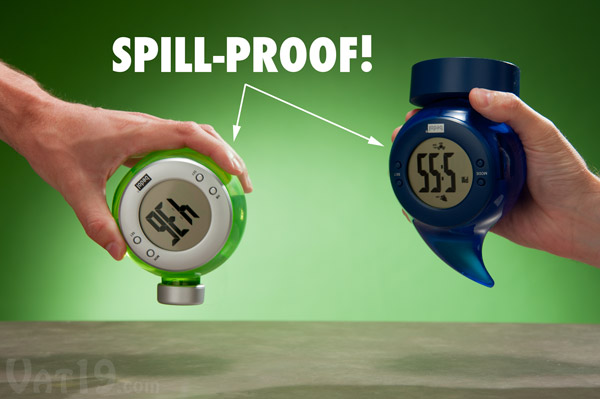 Bedol Water-Powered Clocks are water-tight to prevent spills.