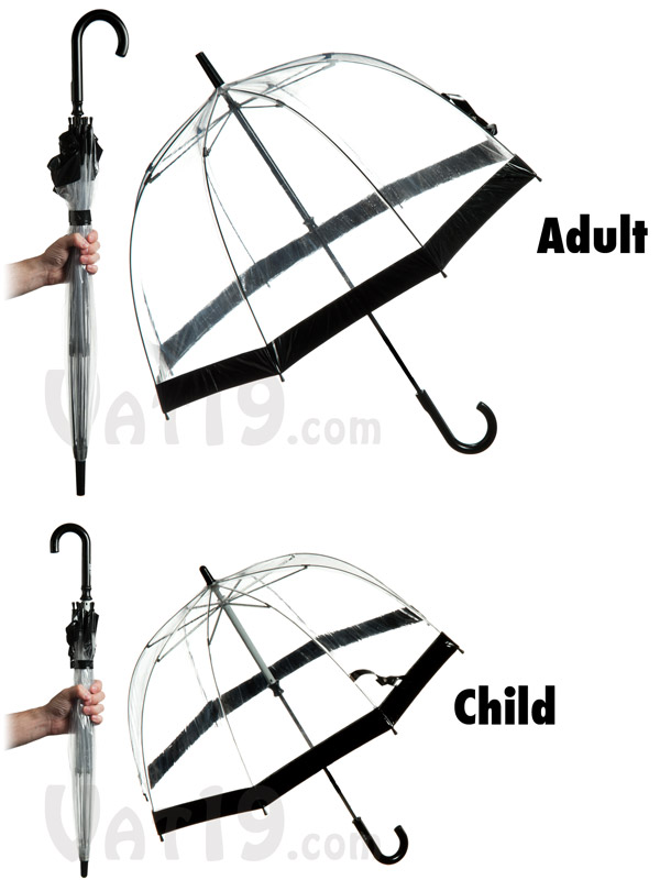The Birdcage Umbrella is available in two sizes.