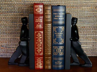 Leaning Man and Pushing Man Bookends will look great on your shelf.